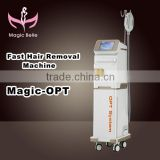 Vertical CE Certificated Fast Hair Removal IPL Diode Laser Wrinkle And Ance Removal With Teaching Video 8.4 Inches
