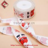 Whole 38MM Customized polyester ribbon 3-color printed Christmas ribbons printed ribbon