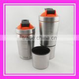 new style glass protein shaker from China stainless steel protein shaker