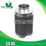 inline air filter for hydroponics, aluminum filter/active carbon filter