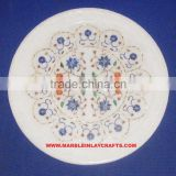 Round Marble Inlay Plate