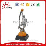 Wholesale custom polyresin basketball trophies for sale