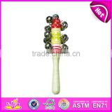 Wholesale baby musical wooden hand shaker bells W07I088