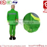 97type Green Orange Comfortable firefighters High Visibility Flame Retardant Firefighter Uniform