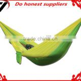 2016 hot sale outdoor camping hammock with polyester tree straps travel camping hammock