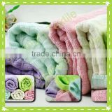 SF-003 solid color bamboo fiber waffle face towels