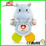 Wholesale Musical Critters Huggable Hippo Teether For Baby