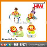 Safe Plastic 4 In 1 Multifunction Toddler Unique Musical Round Baby Walkers Learning