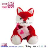 OEM plush New plush red fox toy with bag soft for kids 0507 Shenzhen factory