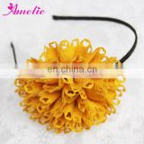 AH824 Girl Twinkling Yellow Color Fashion Crochet Headband