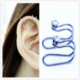 Amazon hot diamond ear clip without pierced ears can also wear foreign trade earrings wholesale manufacturers.