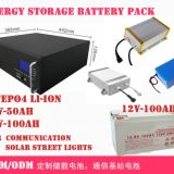 LiFePO4 Rechargeable li-ion Battery pack, 12V-100Ah,48V-50Ah-100A