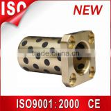 Solid-Lubricant-Inlaid oilless bronze bushing ,du bush graphite flange bushing ,brass guide busing