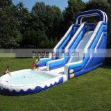 Giant made of 0.55mm pvc tarpaulin commercial inflatable water pool slide for sale