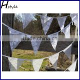 Party Decoration Triangle Lace Bunting Flags PLA017