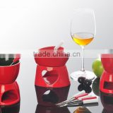 New products Ceramic chocolate fondue set, mini fondue set