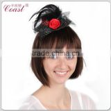 wholesale mini top hats hairband wedding bridal with feather and flower