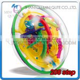 Mini Qute 208 barriers 3D labyrinth maze magical intellect ball kids balance training educational toy 3d puzzle game NO.937