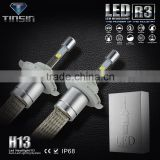 CE and RoHS ISO9001 H4 H13 led headlight auto lamp led H13 car led light bulbs rgb flashing