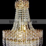 modern gold/silver hotel big crystal chandelier for wedding hall/hotel lobby/villa new designed hotel chandelier pendant light
