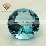Brilliant Blue glass beads Round shape crystal diamond stone