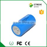3.6v lithium d cell ER34615 19000mah high capacity top head