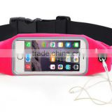 New products fitness jogging belt gym sports elastic waist bag with touch screen