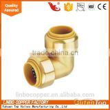 "LB-GutenTop China manufacturer 3/8""*3/8"",1/2""*1/2"",3/4""*3/4"",1""*1"" CE approve push fit elbow fitting"