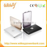 2016 ultra thin slick design credit card size wireless power bank battery charger for iphone