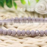Solid Purple 2mm to 12mm AAA Quality Wholesales Price Loose Jade Crystal Facted Roundelles Glass Beads for Jewelry Cheapest