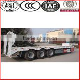 multi axles 120 ton low bed truck trailer
