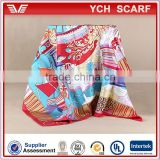 Digital Printed Wholesale New Twill Silk Scarves 90*90