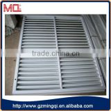hot selling European Style pvc louver windows/fixed louver for bathroom