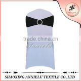 Wedding standard size black spandex chair sash
