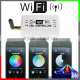 WIFI & RF Remote RGB/RGBW led Controller/Switch WIFI for Ipad Iphone & Androil System