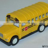 "3"" mini diecast school bus for sale die cast school bus pull back toy OEM American school bus in metal 12pcs/box"