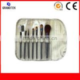 Wholesale promotion 7pcs double end black air brush makeup brush set