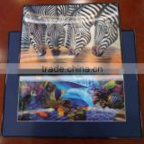 3D paper framed photos of animal images 3D lenticular framed wall photo for home decoration