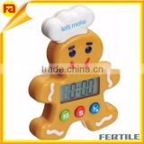 KITCHENCRAFT Kids GingerBread Man Mechanical Timer Alarm. Home Baking Cakes Cookies Muffins