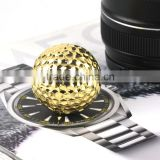 China OEM factory custom golf ball 24k gold plated hardware products