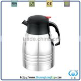 wholesale stainless steel flat cap thermos coffee maker,coffee pot