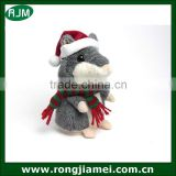 Christmas talking hamster russian version talking hamster with red hat and scarf lovely hamster plush toy