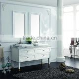 Double sinks bathroom mirror cabinet, oak veneer double bowl antique bathroom vanity with marble top
