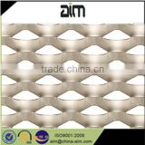 anodized aluminum expanded mesh/ expanded steel mesh/ powder coated decorative expanded metal mesh wall