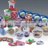 double wall paper ice cream cups smooth aluminum pp/ps plastic cup foil lid easy peel