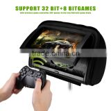 Headrest dvd player with 9 inch1080P touch screen HDMI FM IR USB SD 32BIT Wireless Game
