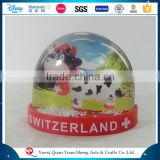Snow Globe With The Magnet,Fridge Magnet For Tourist Souvenirs,OEM Fridge Magnet Plastic Photo Snow Globe