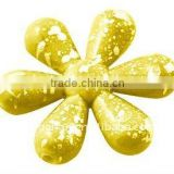 Spray Painted Acrylic Beads, Flower,Yellow, about 25x25x5mm, hole: 1.5mm; about 454pcs/500g(ACRP-PAB2452Y-9)
