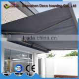 Motorized Sunshade Retractable Arm Full Cassette Awning