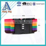 Travel Luggage Suitcase Strap Rainbow Color Belt Baggage